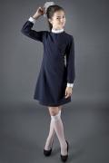 Синее платье для школьницы