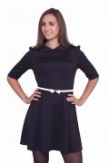 Трикотажное платье для школы