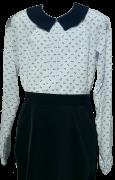 белая с бантиками блузка