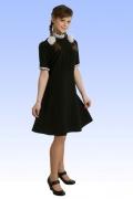 Чёрное платье для школы