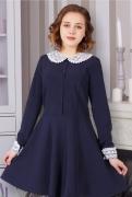 купить школьное синее платье