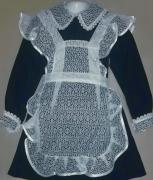 купить синее чёрное школьное платье форму для начальной школы класса