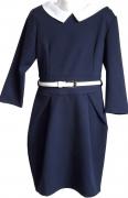 купить синее школьное красивое платье в школу