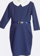 купить синее школьное красивое платье