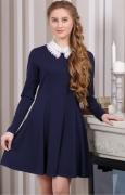 купить синее трикотажное платье для старшеклассницы в Новосибирске