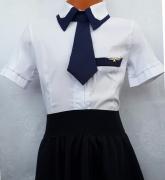 купить в новосибирске белую рубашку с галстуком для школы
