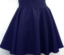 синяя школьная юбка