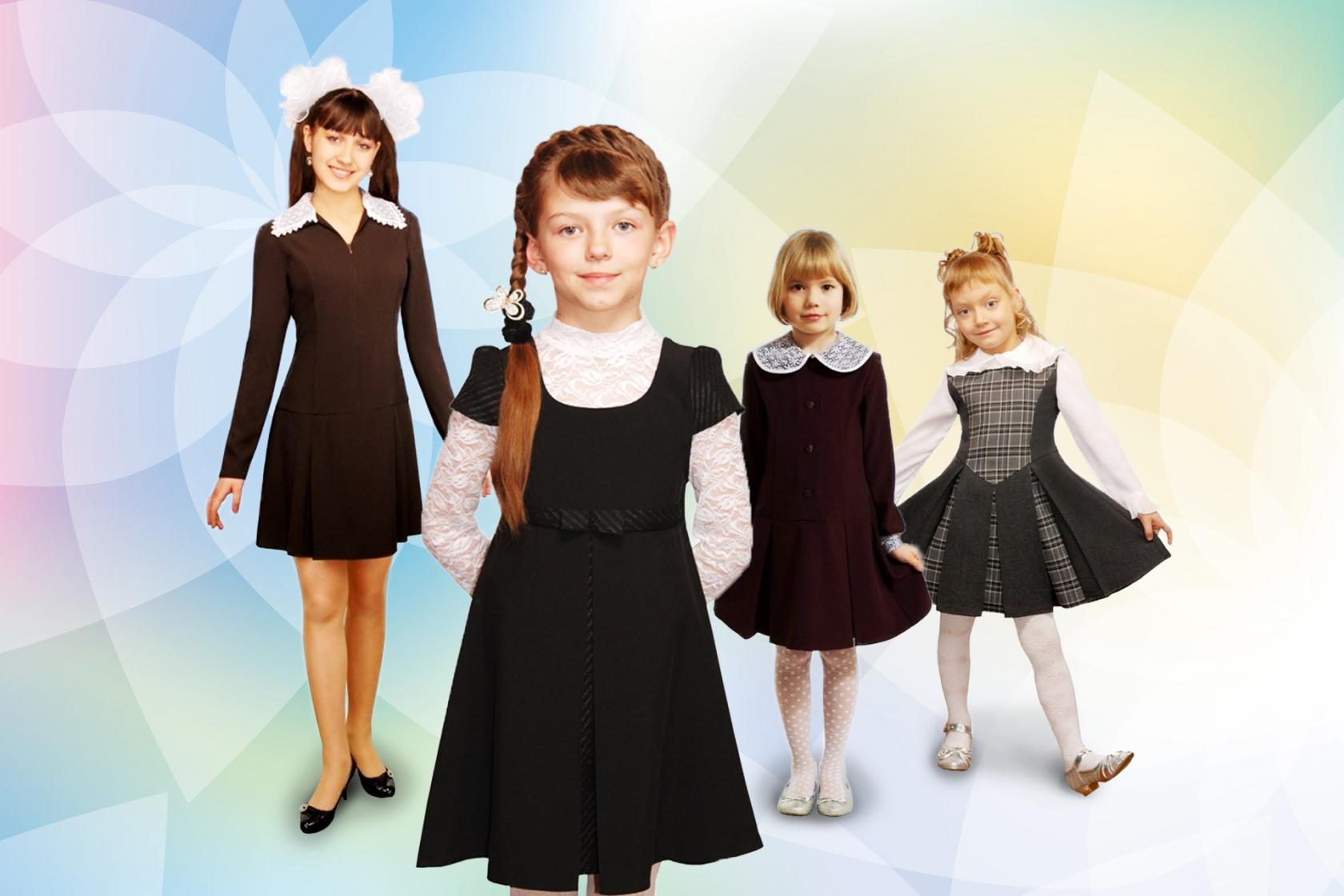 широкому размерному ряду (от 28-го до 54-го) здесь можно подобрать красивое платье фартук для школьниц всех возрастов и любой комплекции. Будьте уверены, платье сядет по фигуре!